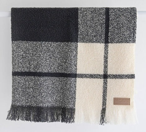 Wool Twill Throw - Block Check