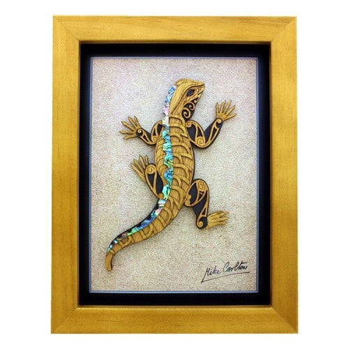 Large Tuatara Framed Artwork