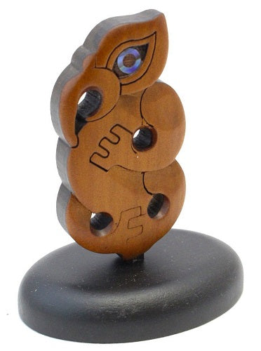 Carved Kauri Manaia - Standing 65mm high