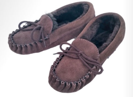 Mens Traditional Moccasin Slipper - NZ Made