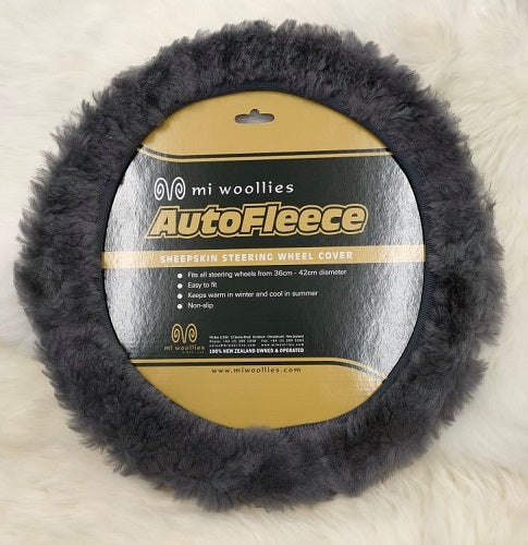 Sheepskin Steering Wheel Cover - Slate