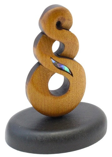 Carved Kauri Twist - Standing 65mm high