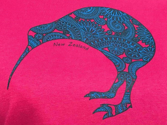 Ladies Fitted T-Shirt - PAISLEY KIWI