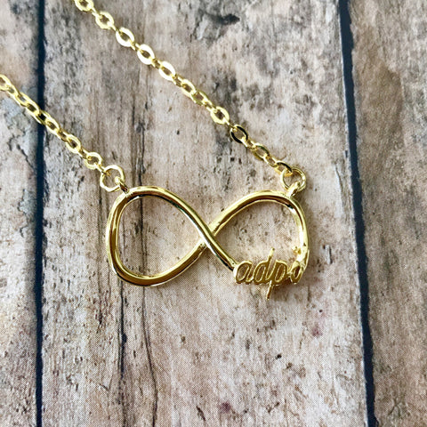 Alpha Delta Pi Infinity Necklace (Gold)