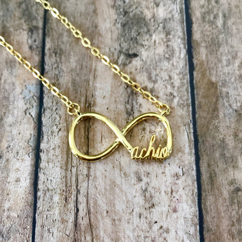 Alpha Chi Omega Infinity Necklace (Gold)