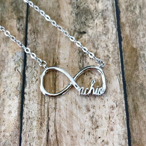 Alpha Chi Omega Infinity Necklace (Silver)