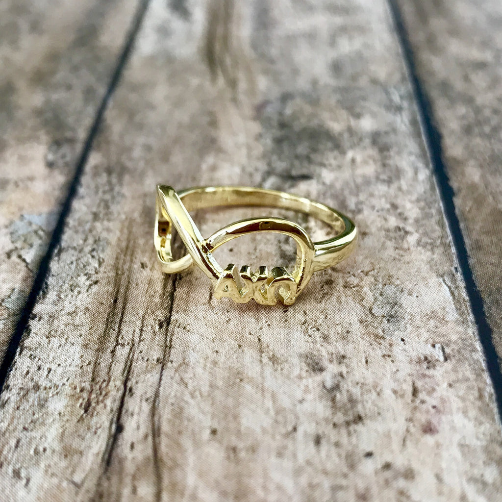 Alpha Chi Omega Infinity Ring (Gold)