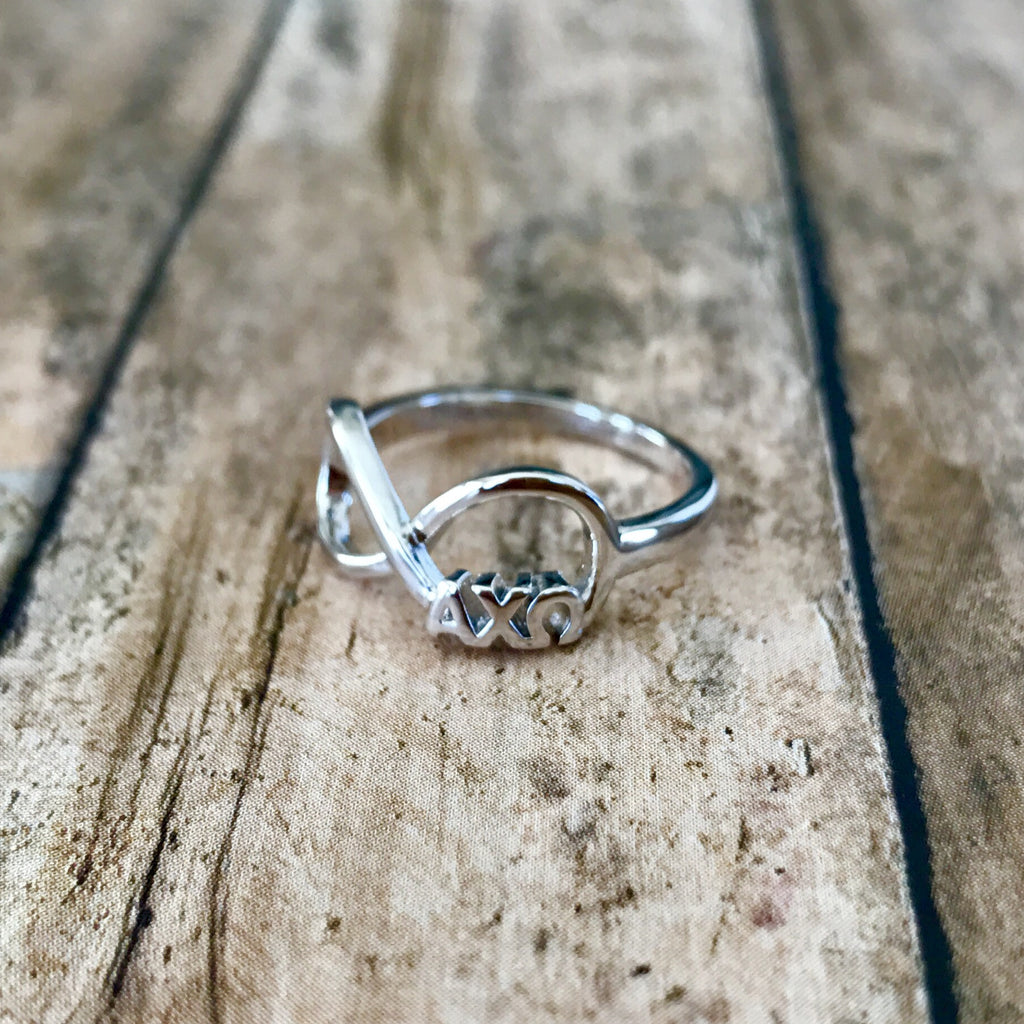 Alpha Chi Omega Infinity Ring (Silver)
