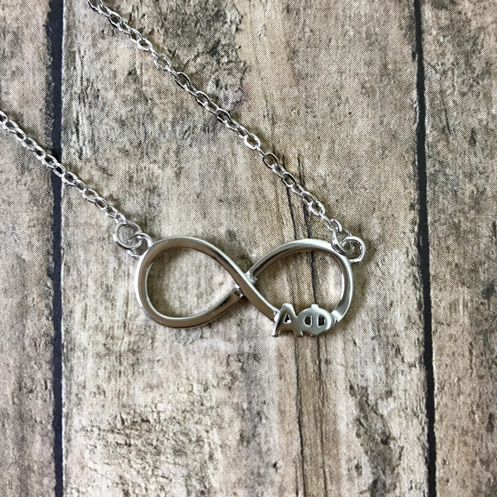 Alpha Phi Infinity Necklace (Silver)