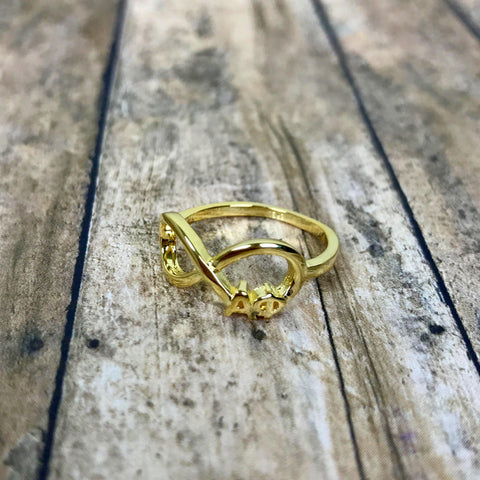 Alpha Phi Infinity Ring (Gold)