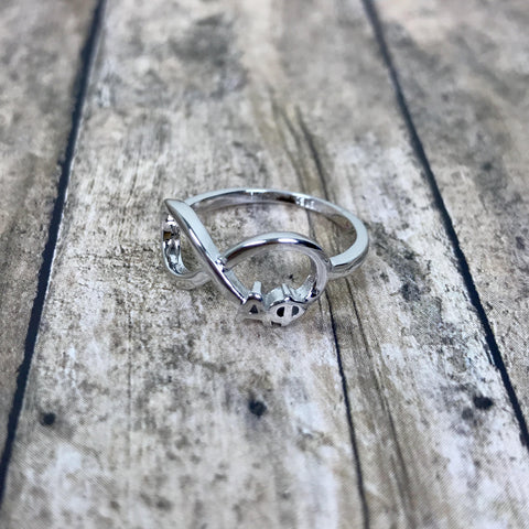 Alpha Phi Infinity Ring (Silver)