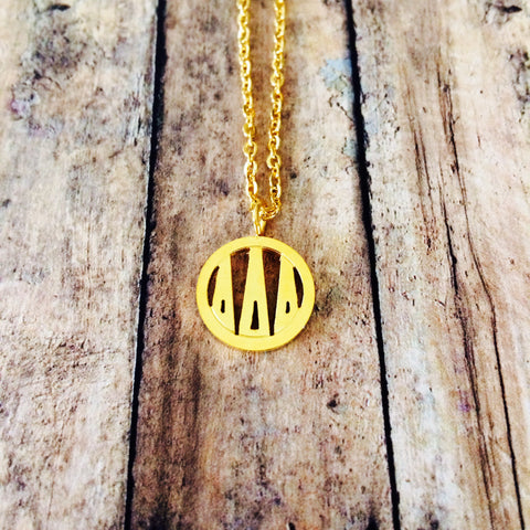 Delta Delta Delta Monogram Style Necklace (Gold)