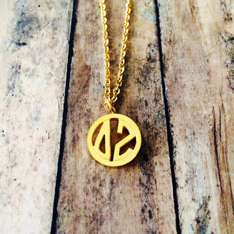 Delta Zeta Monogram Style Necklace (Gold)