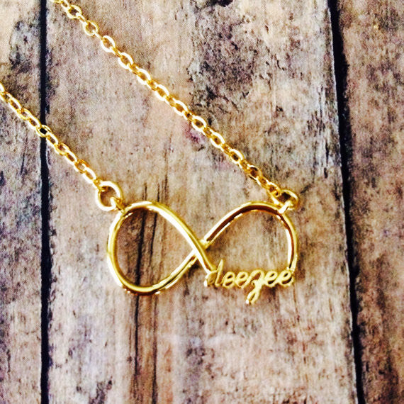 "Delta Zeta ""deezee"" Infinity Necklace (Gold)"