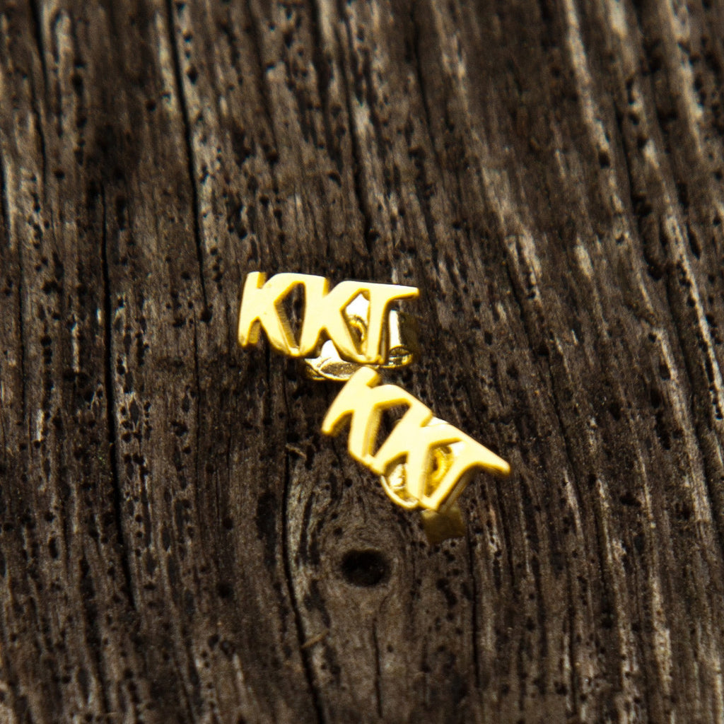 Kappa Kappa Gamma Letter Stud Earrings (Gold)
