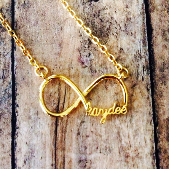 "Kappa Delta ""kaydee"" Infinity Necklace (Gold)"