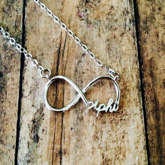 Pi Beta Phi Infinity Necklace (Silver)
