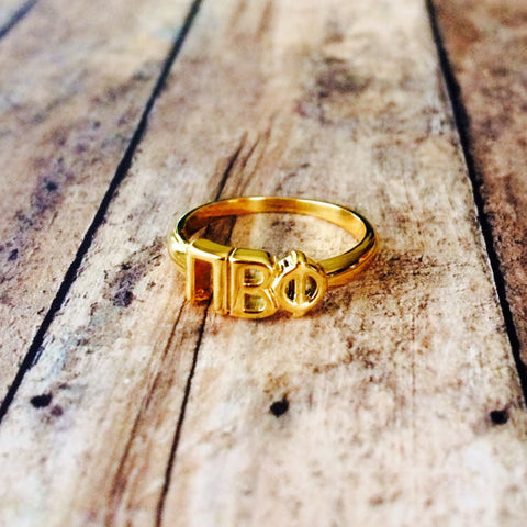 Pi Beta Phi Classic Letter Ring (Gold)
