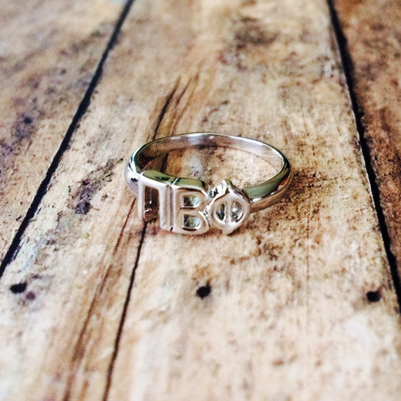 Pi Beta Phi Classic Letter Ring (Silver)