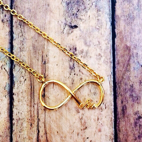 Chi Omega Infinity Necklace (Gold)