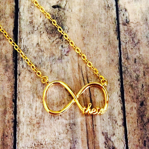 Kappa Alpha Theta Infinity Necklace (Gold)