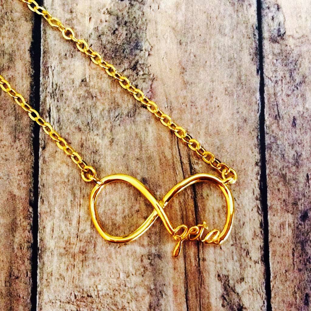 Zeta Tau Alpha Infinity Necklace (Gold)