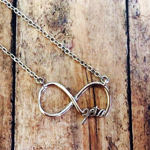 Zeta Tau Alpha Infinity Necklace (Silver)