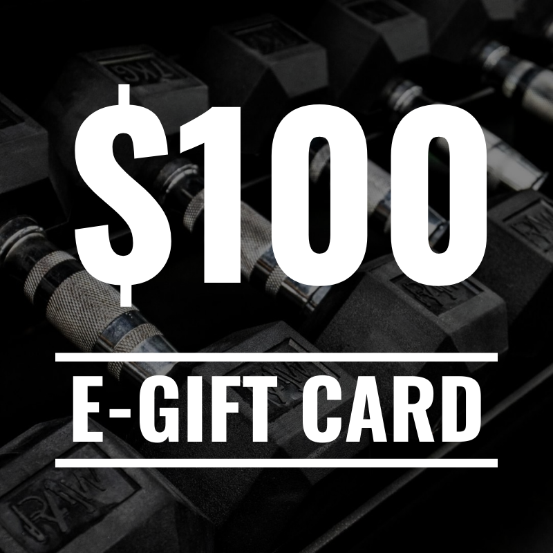 RAW Gift Card - $100 - RAW Fitness Equipment