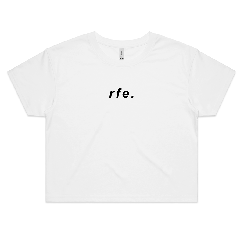 Label Crop Tee - RAW Fitness Equipment