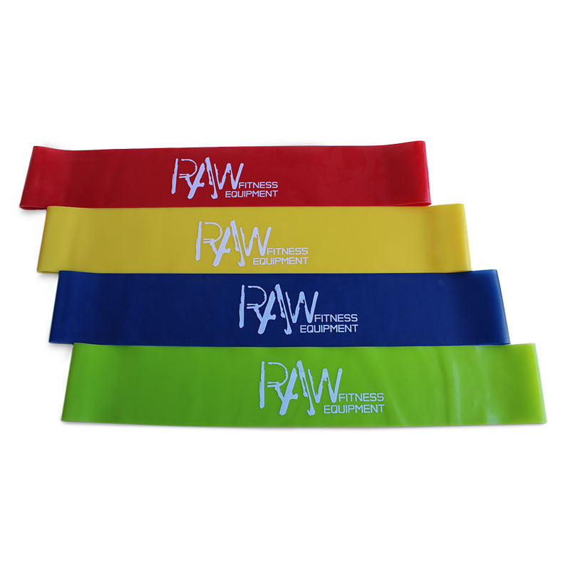 BOOTY MINI LOOP RESISTANCE BANDS 4 PACK - RAW Fitness Equipment