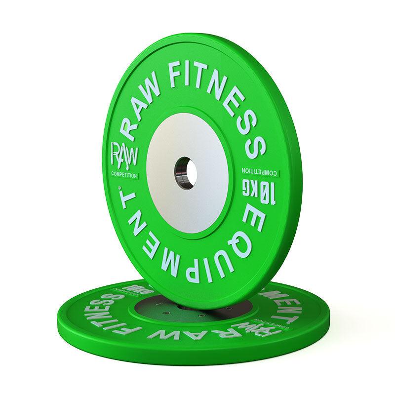 Bumper Plate Competition Premium Colour - 10KG Pair - RAW Fitness Equipment