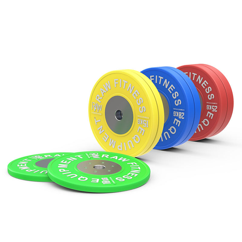 Bumper Plate Competition Premium Colour - 140KG Pack - RAW Fitness Equipment