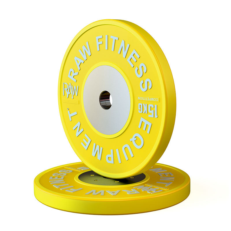 BUMPER PLATE – COMPETITION 15KG PAIR - RAW Fitness Equipment
