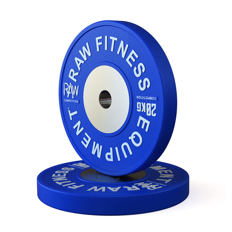 Bumper Plate Competition Premium Colour - 20KG Pair - RAW Fitness Equipment