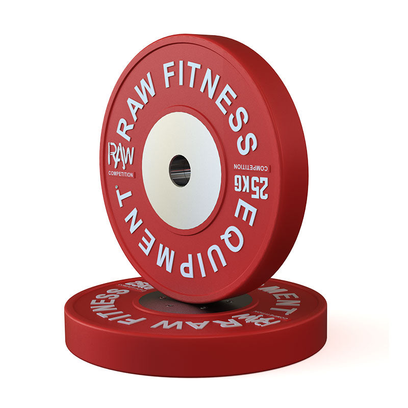BUMPER PLATE – COMPETITION 25KG PAIR - RAW Fitness Equipment