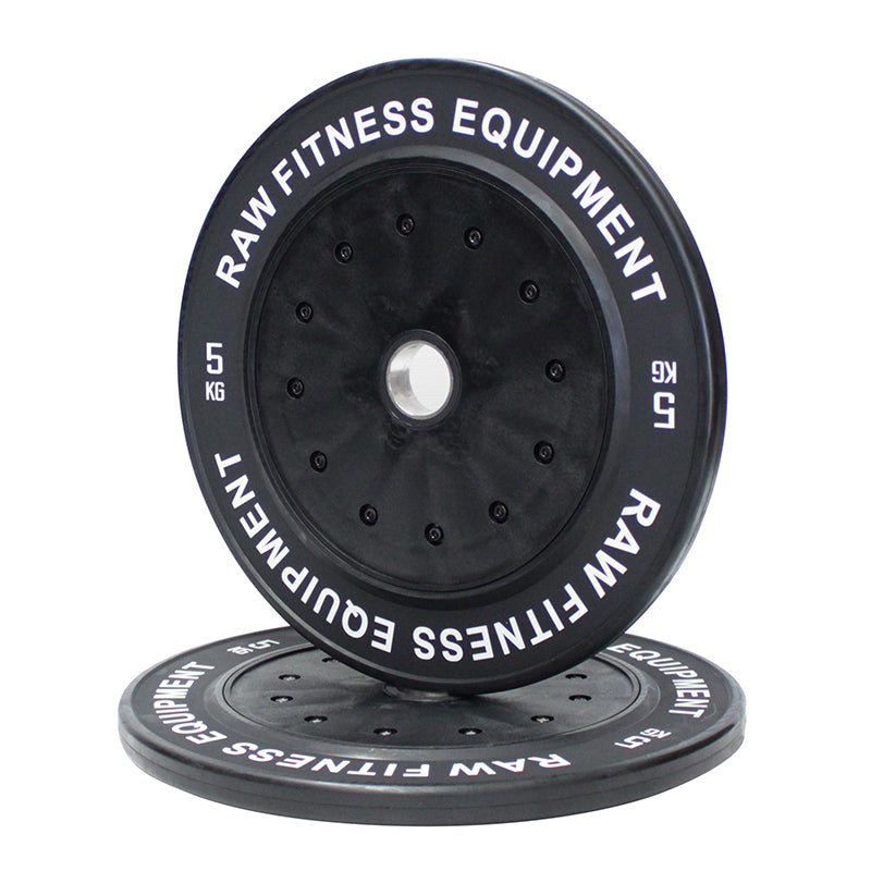 Bumper Plate Competition Premium Black - 5KG Pair - RAW Fitness Equipment