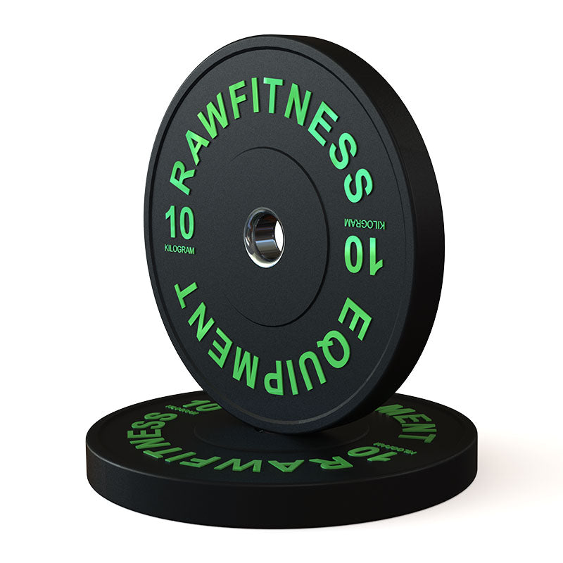 BUMPER PLATE – PREMIUM, BLACK, 10KG PAIR - RAW Fitness Equipment