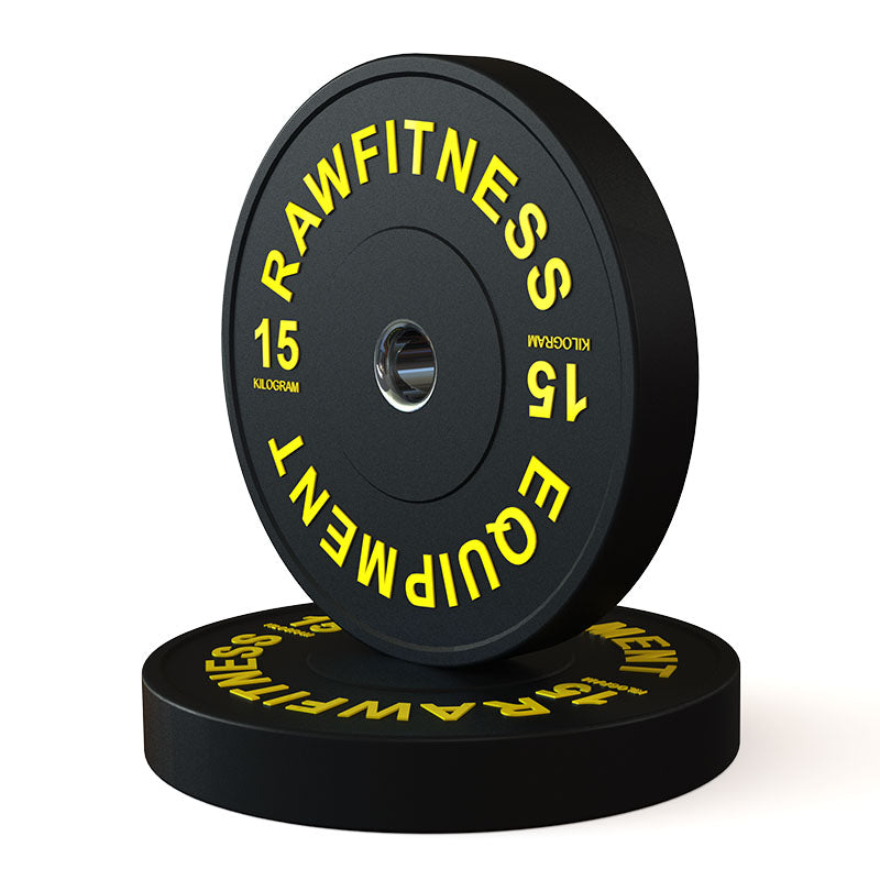 2019 BUMPER PLATE – PREMIUM, BLACK, 15KG PAIR - RAW Fitness Equipment