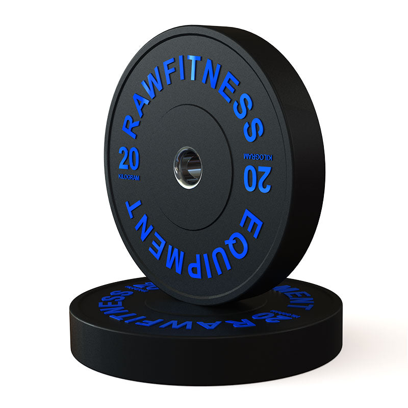 2019 BUMPER PLATE – PREMIUM, BLACK, 20KG PAIR - RAW Fitness Equipment