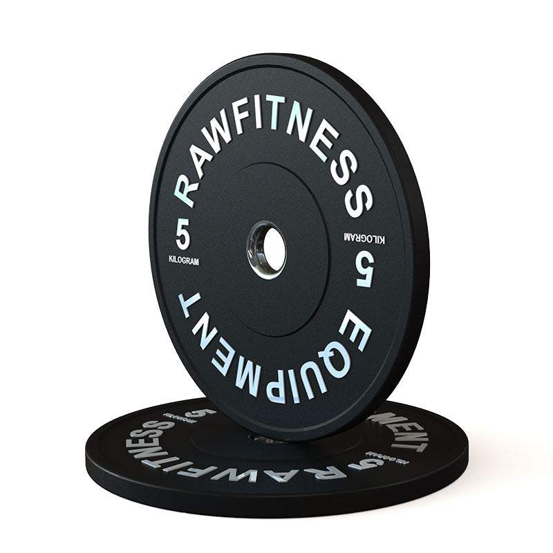 2019 BUMPER PLATE – PREMIUM, BLACK, 5KG PAIR - RAW Fitness Equipment