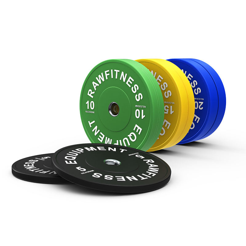 BUMPER PLATE – PREMIUM, COLOUR 100KG SET - RAW Fitness Equipment