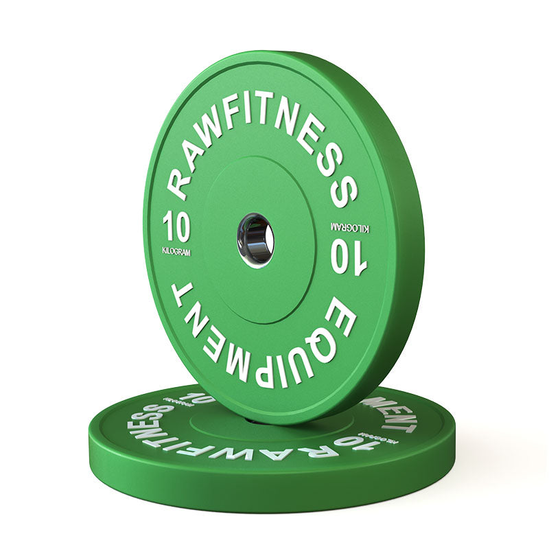 BUMPER PLATE – PREMIUM, COLOUR 10KG PAIR - RAW Fitness Equipment