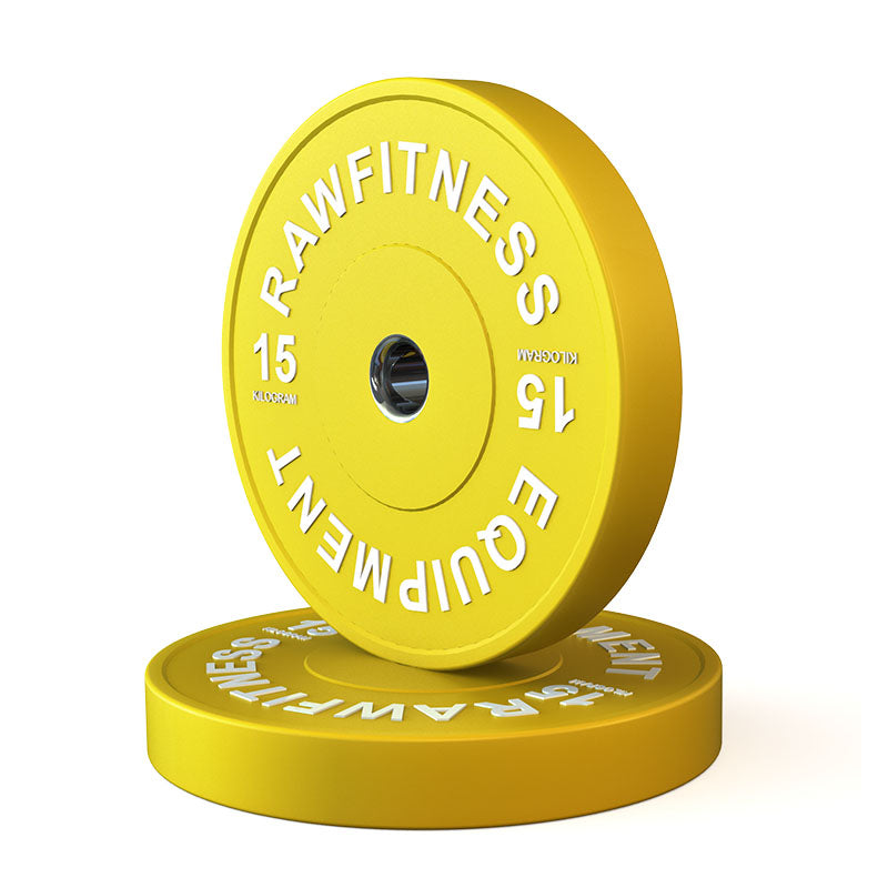 2019 BUMPER PLATE – PREMIUM, COLOUR 15KG PAIR - RAW Fitness Equipment