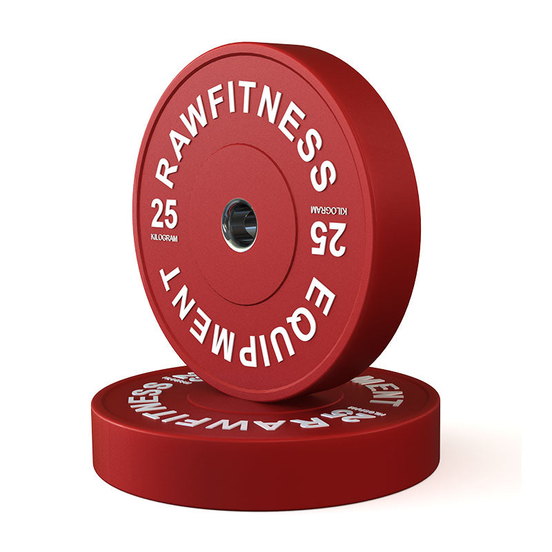BUMPER PLATE – PREMIUM, COLOUR 25KG PAIR - RAW Fitness Equipment