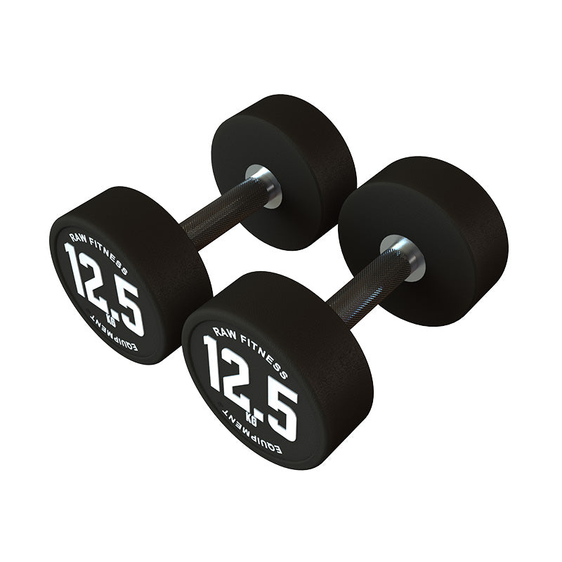 Dumbbell CPU Round - 12.5KG Pair - RAW Fitness Equipment