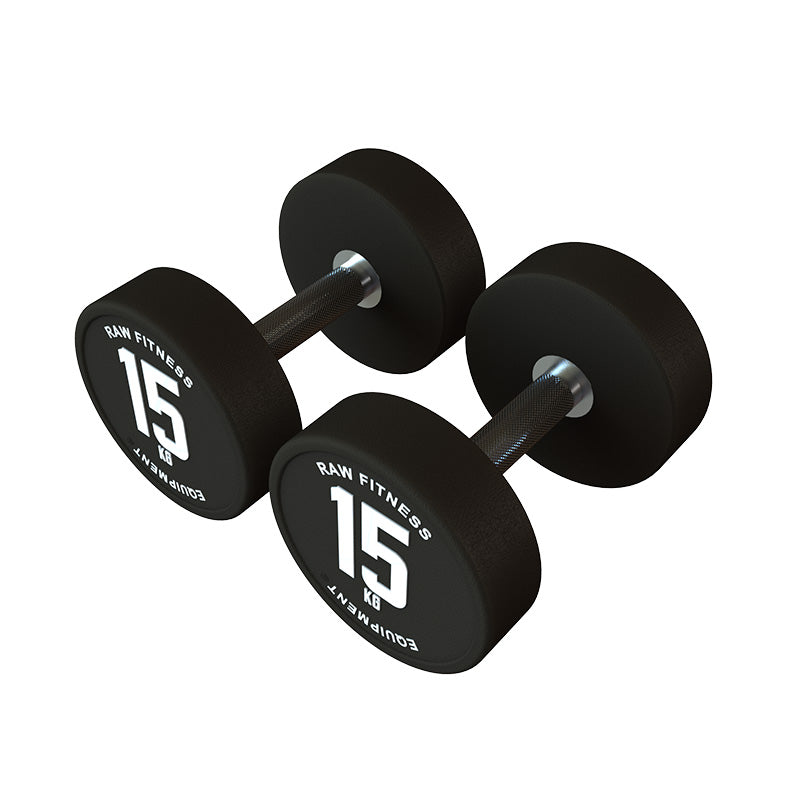 DUMBBELL – CPU ROUND 15KG PAIR - RAW Fitness Equipment