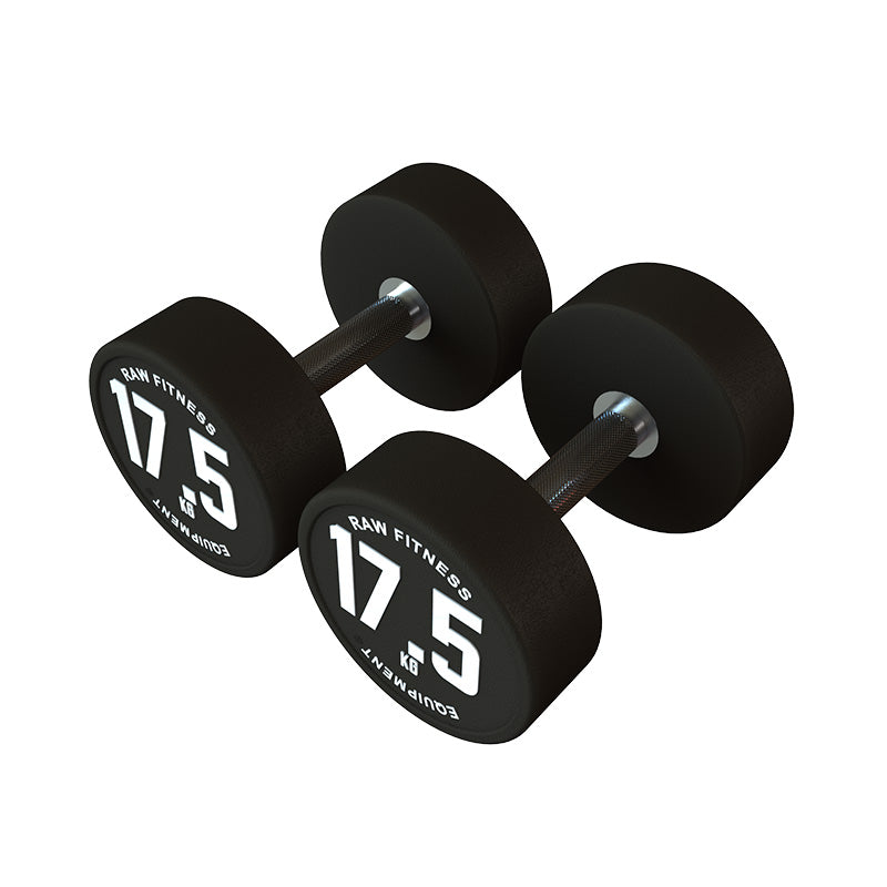 DUMBBELL – CPU ROUND 17.5KG PAIR - RAW Fitness Equipment