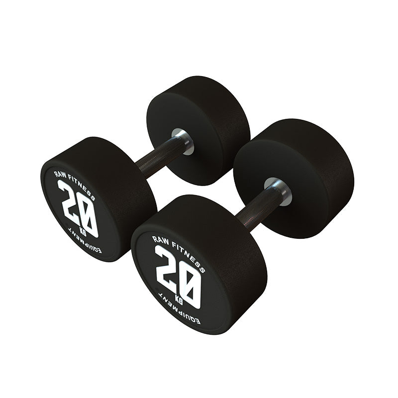 DUMBBELL – CPU ROUND 20KG PAIR - RAW Fitness Equipment