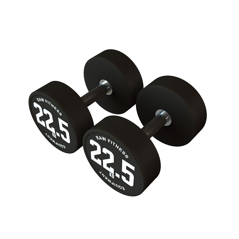 DUMBBELL – CPU ROUND 22.5KG PAIR - RAW Fitness Equipment