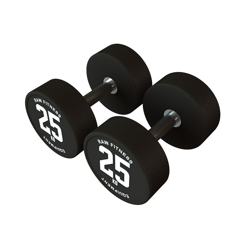 DUMBBELL – CPU ROUND 25KG PAIR - RAW Fitness Equipment